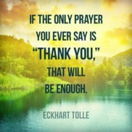 Thank You Is Enough!